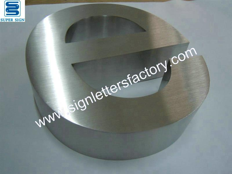 316 brushed stainless steel letter