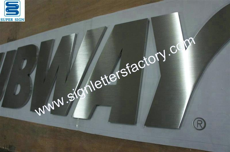 Fabricated brushed stainless steel lettering|304grade stainless steel|316 grade stainless steel