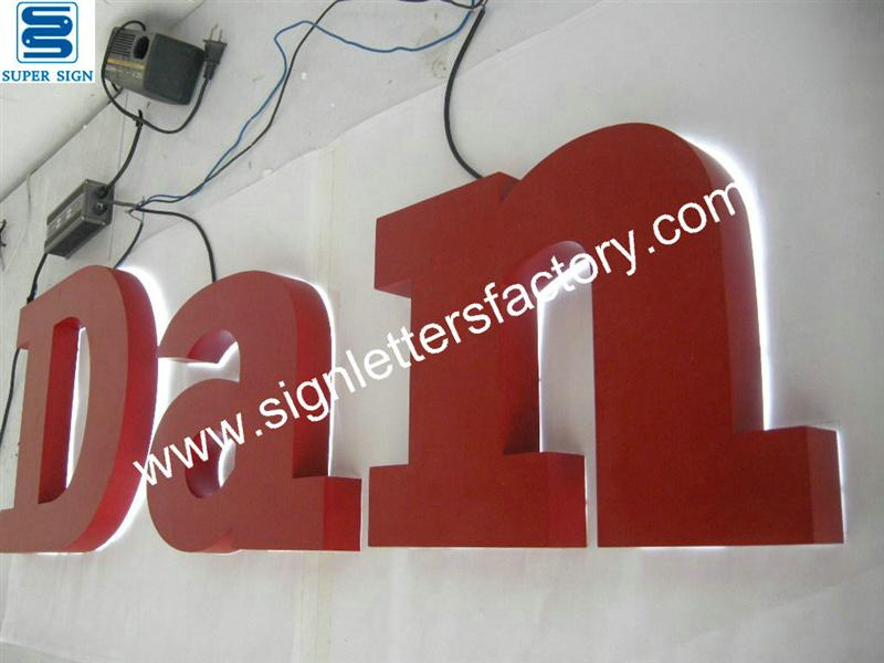 painted aluminum sign letters
