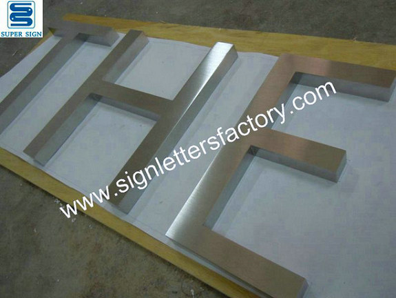 brushed stainless steel letters 01