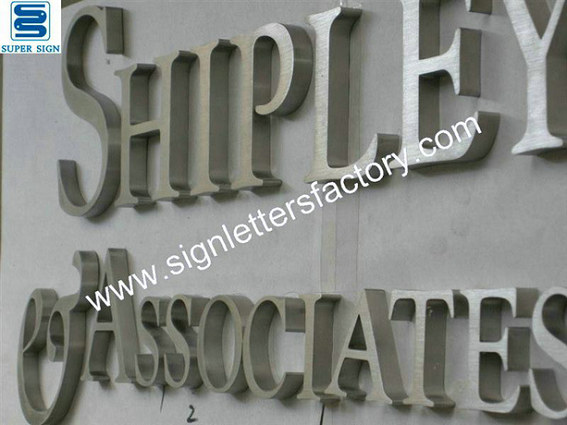 brushed stainless steel letter signage 02