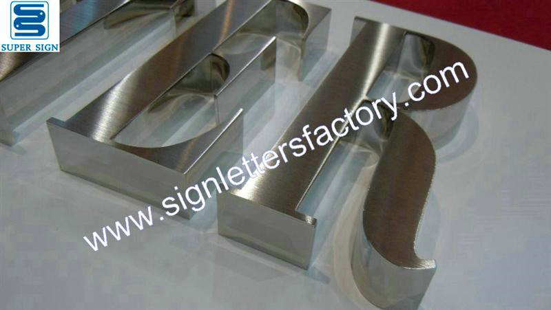 hairline stainless steel sign lettering 03