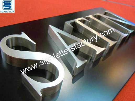 satin brushed stainless steel letters 04