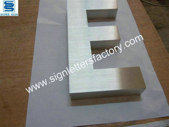 brushed stainless steel letter 06