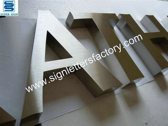 brushed stainless steel letter 08
