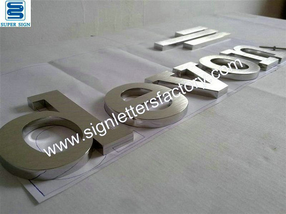 brushed stainless steel letters 09