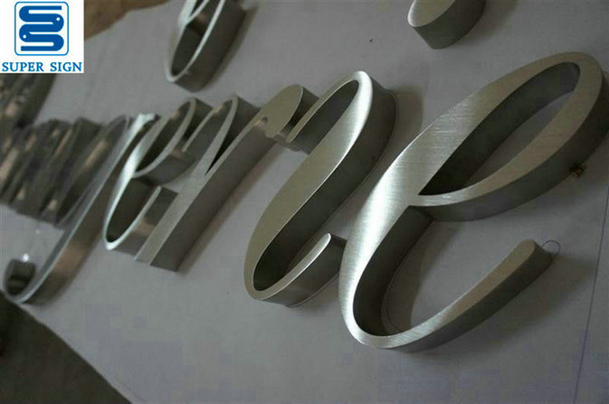 built-up stainless steel letters 10
