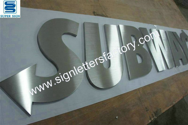 brushed stainless steel lettering 11