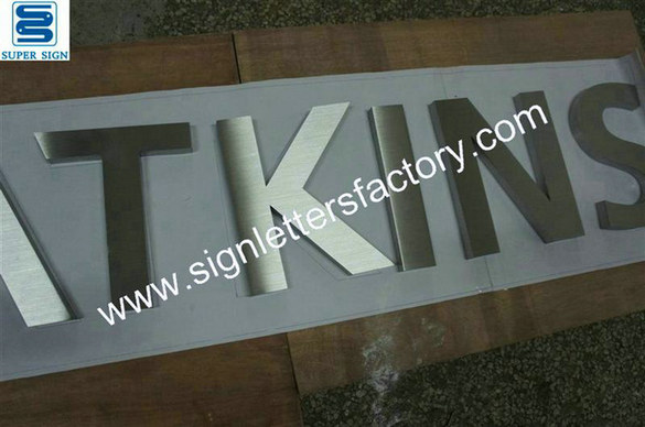 brushed stainless steel letter signs 12