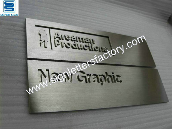 brushed stainless steel signs brushed stainless steel letters