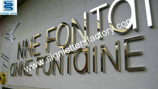 316 polished stainless steel letter signage 03