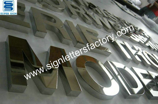 stainless steel interior letter sign 08