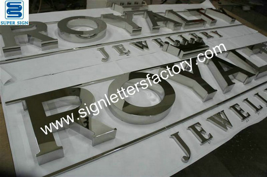 polished stainless steel letters 09