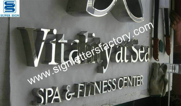 polished stainless steel letter signage 10