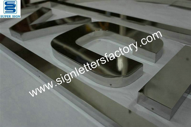 polished stainless steel signage 11