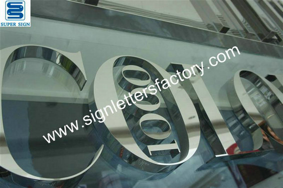 polished stainless steel lettering 12