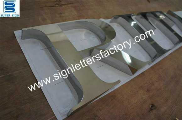 mirror stainless steel lettering sign 13