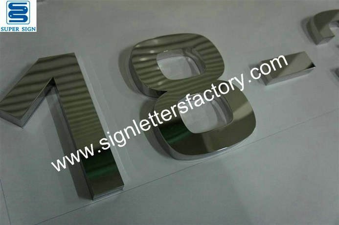 built-up stainless steel sign letter 14