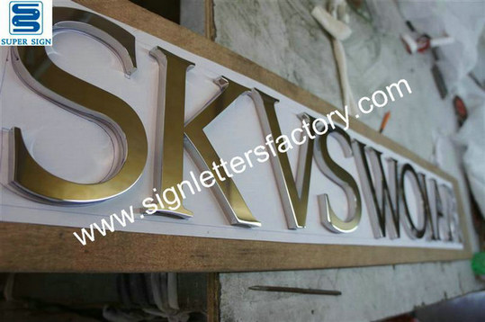 polished stainless steel sign letters 19