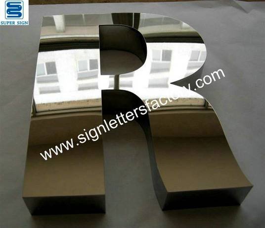 316 polished stainless steel sign letters 25
