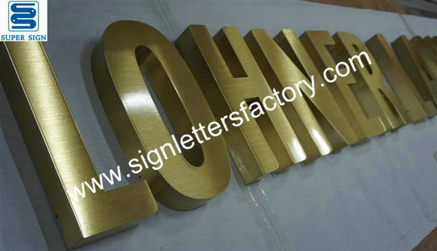 brushed brass sign letters 01