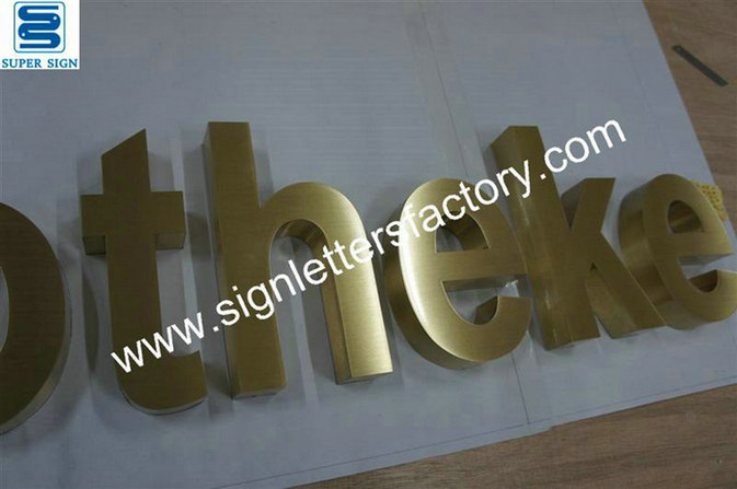 brushed brass sign lettering 02