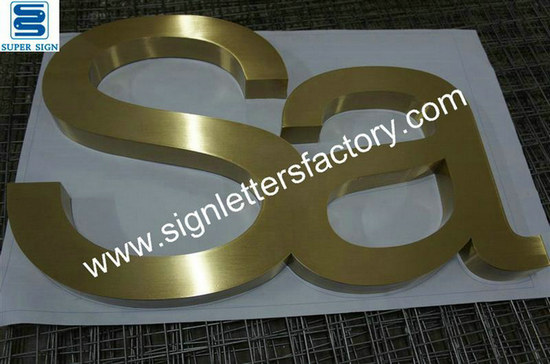 brushed brass letter signage 03