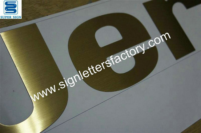 flat cut brass letter sign 06