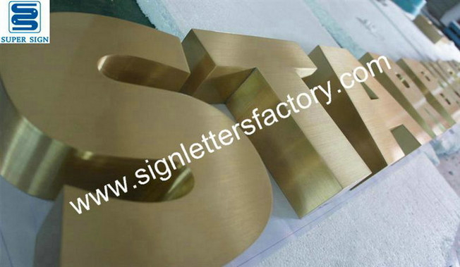 brushed brass letter signage 07