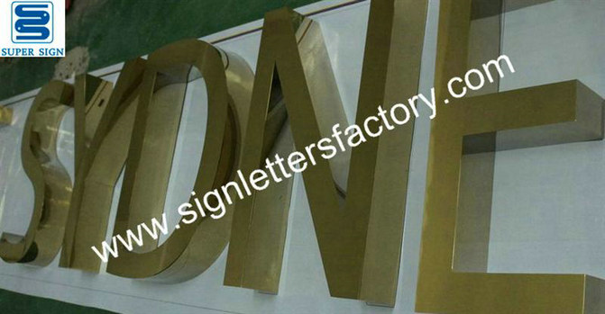 fabricated polished brass sign letters 11
