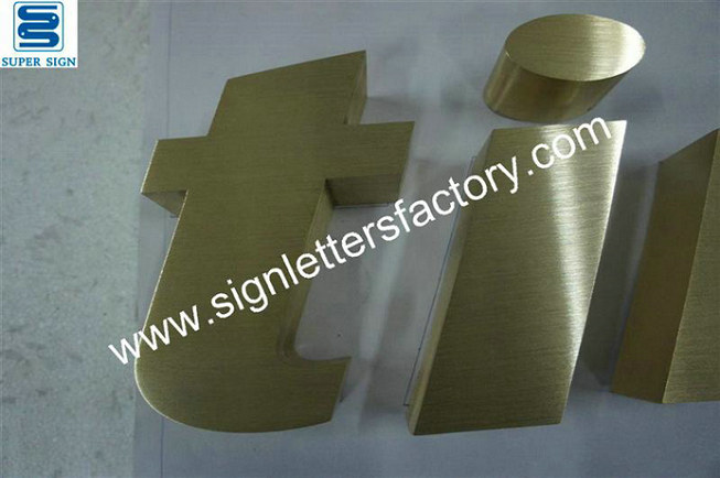 brushed brass sign lettering 14