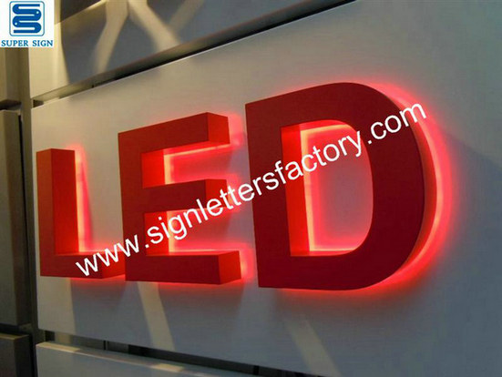 halo lit LED channel letters 02