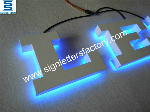 halo illuminated  LED sign letters 09