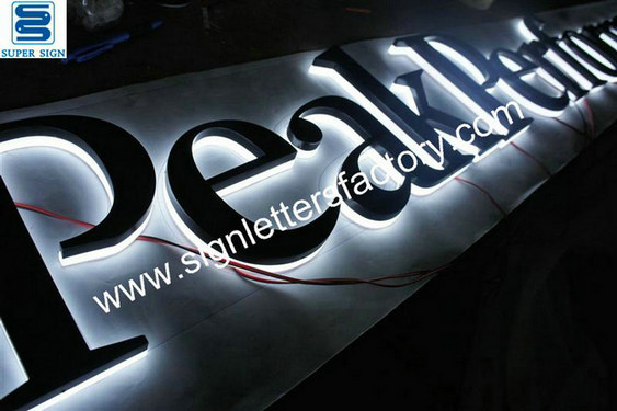 halo lit LED sign letters 14