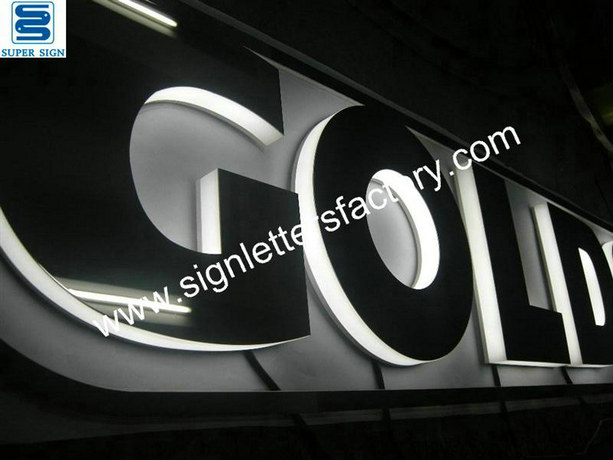 sidelit LED letter sign 02