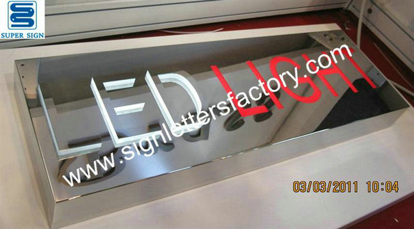 fabricated stainless steel LED Lightbox 04
