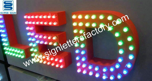 RGB LED sign letters 05