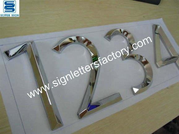 3D polished stainless steel letters and numbers 01