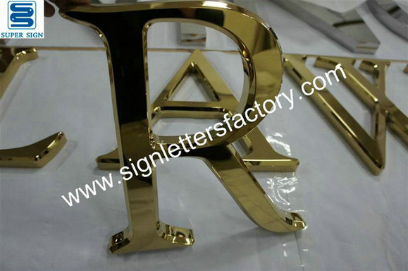 3D golden stainless steel letters 01