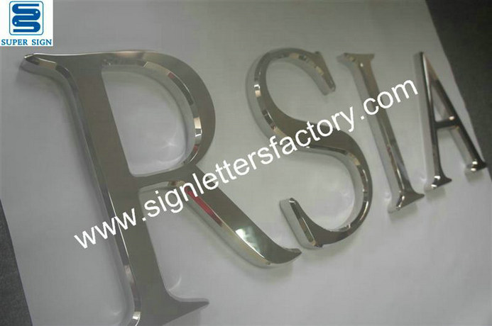 3D polished stainless steel letter sign 05