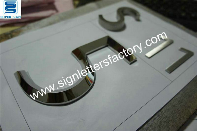 3D polished stainless steel lettering 06