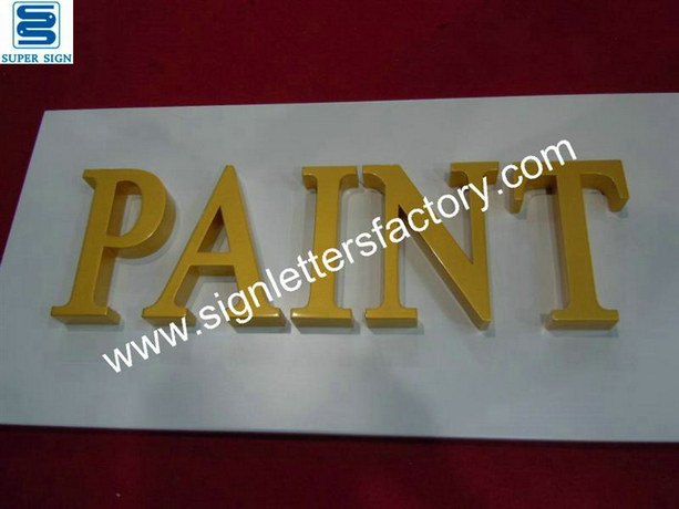 painted acrylic letter sign 01