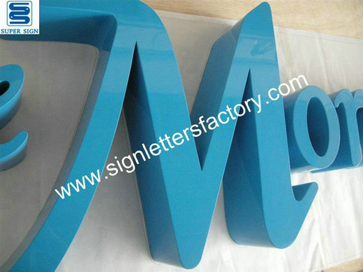 painted stainless steel sign letters 01