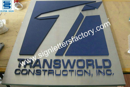 indoor painted stainless steel sign 06