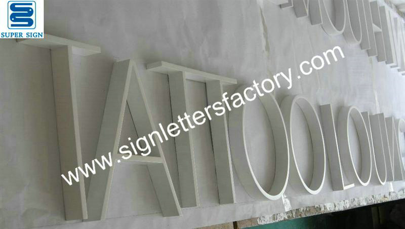 painted stainless steel metal letters 09