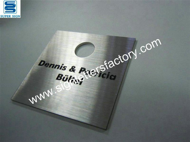 etched stainless steel panel sign 02