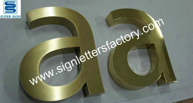 fabricated-brushed brass letters 04