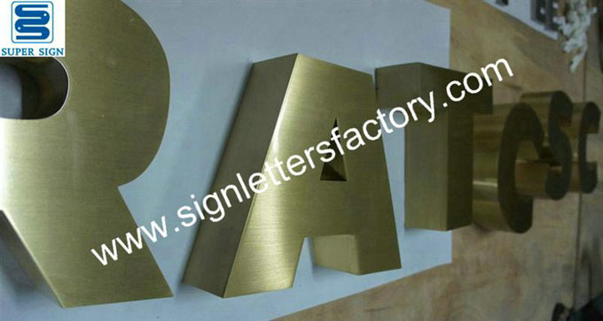 built-up brass sign letter 05