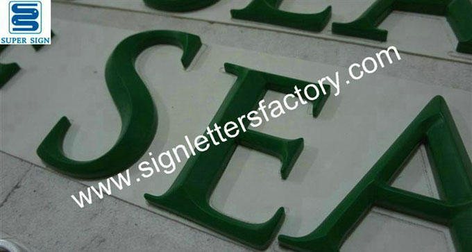painted PVC letter sign 04
