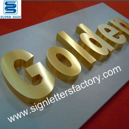 golden brushed stainless steel letters 20